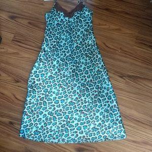 Cheetah print night gown